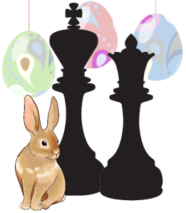 Chess Chess Easter Bunny and Eggs